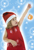 Beautiful little girl with christmas decoration Stock Photos