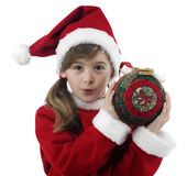 Beautiful little girl with christmas decoration Royalty Free Stock Images
