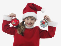 Beautiful little girl with christmas decoration Royalty Free Stock Image