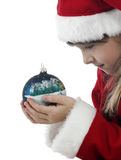 Beautiful little girl with christmas decoration Stock Photography