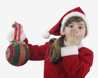 Beautiful little girl with christmas decoration Stock Image