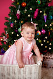 Beautiful little girl at Christmas Stock Photography