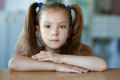 Beautiful little girl close-up Stock Photography