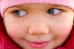 Beautiful little girl closeup Royalty Free Stock Images