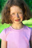 Beautiful little girl with curly hair Royalty Free Stock Images