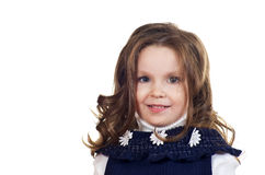Beautiful little girl with curly hair. Royalty Free Stock Photography