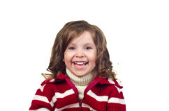Beautiful little girl with curly hair. Stock Images