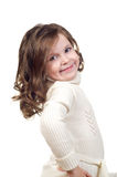 Beautiful little girl with curly hair. Royalty Free Stock Photo