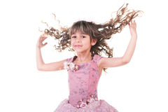 Beautiful little girl dancing Royalty Free Stock Images