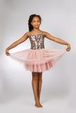 Beautiful little girl dancing Stock Photos