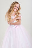 Beautiful little girl in  dres Stock Photos