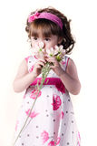 Beautiful little girl in a dress Stock Photos