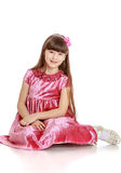 Beautiful little girl in dress Stock Images