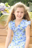 Beautiful little girl in dress vertical Royalty Free Stock Image