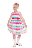 Beautiful little girl in full length Royalty Free Stock Photo
