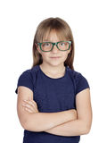 Beautiful little girl with glasses Stock Image