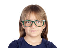 Beautiful little girl with glasses Royalty Free Stock Photo