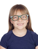Beautiful little girl with glasses Stock Photo
