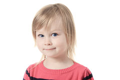 Beautiful little girl with great blue eye Royalty Free Stock Photography