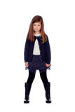 Beautiful little girl with gumboots Stock Photo