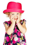 Beautiful little girl in hat Stock Image