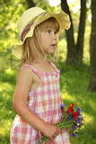 Beautiful little girl in a hat Royalty Free Stock Images