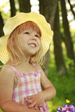 Beautiful little girl in a hat Stock Photo