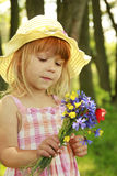 Beautiful little girl in a hat Royalty Free Stock Photography