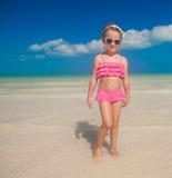 Beautiful little girl having fun on an exotic Royalty Free Stock Photo