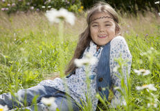 Beautiful little girl in hippie style Royalty Free Stock Images