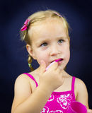 Beautiful little girl holding spoon Royalty Free Stock Photography