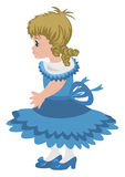 Beautiful little girl. Illustration of beautiful little girl in blue dress Royalty Free Stock Photography