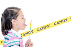 Beautiful little girl with lollipop Stock Images