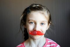Beautiful little girl with lollipop Royalty Free Stock Images