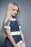 Beautiful little girl with long hair Stock Photo