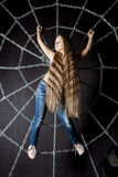 Beautiful little girl with long hair Royalty Free Stock Photo