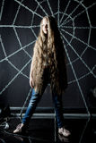 Beautiful little girl with long hair Stock Image