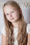 Beautiful little girl with long hair Royalty Free Stock Image