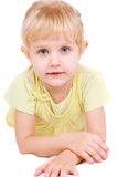 Beautiful  little girl lying Royalty Free Stock Images