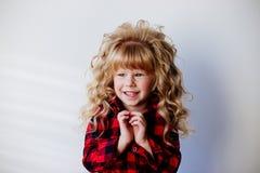 Little fashion girl. royalty free stock image