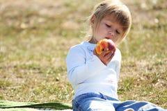 Beautiful little girl on nature Stock Photos