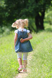 Beautiful little girl on nature, Stock Photos