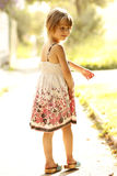 Beautiful little girl on nature Royalty Free Stock Images