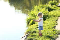 Beautiful little girl on nature Royalty Free Stock Photo