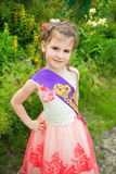 Beautiful little girl outdoor Stock Photo