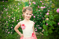 Beautiful little girl outdoor Royalty Free Stock Photos