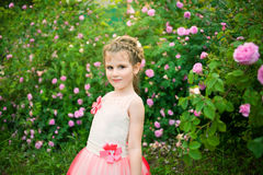 Beautiful little girl outdoor Stock Images