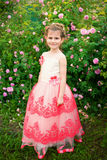 Beautiful little girl outdoor Royalty Free Stock Images