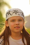 Beautiful little girl outdoors Royalty Free Stock Photography