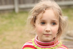 Beautiful Little Girl Outside Portrait Stock Image